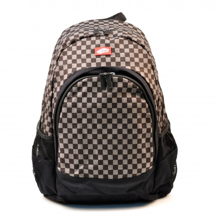 vans van doren backpack rucksack tasche schwarz grau black. Black Bedroom Furniture Sets. Home Design Ideas