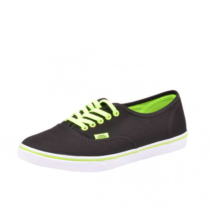 vans authentic lo pro schuhe sneaker unisex neon black. Black Bedroom Furniture Sets. Home Design Ideas
