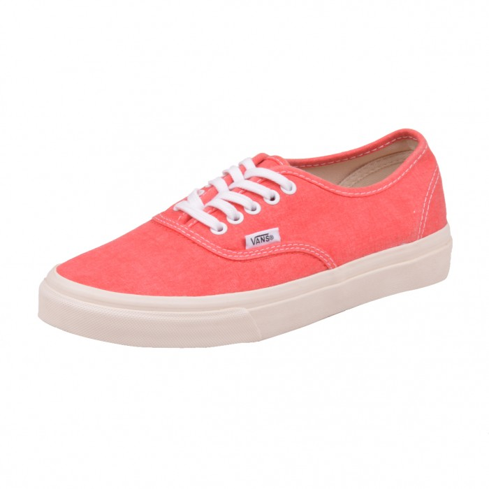 vans authentic slim schuhe sneaker washed hot coral rot. Black Bedroom Furniture Sets. Home Design Ideas