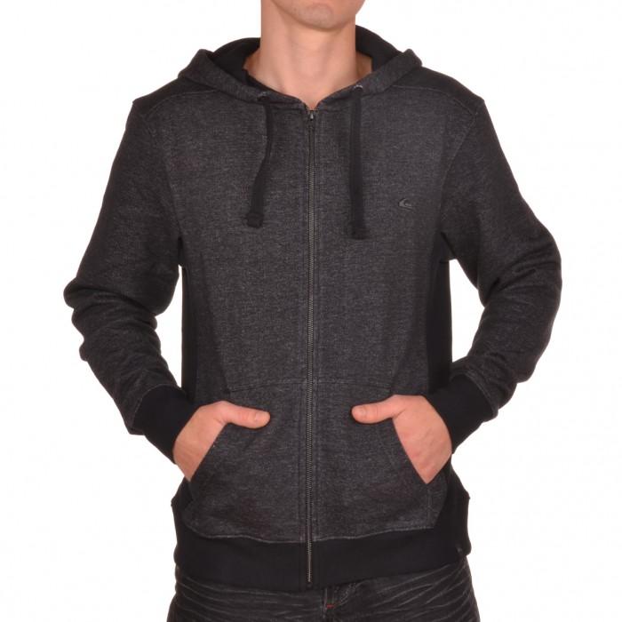 quiksilver mood hoodie black textilien herren sweatjacke. Black Bedroom Furniture Sets. Home Design Ideas