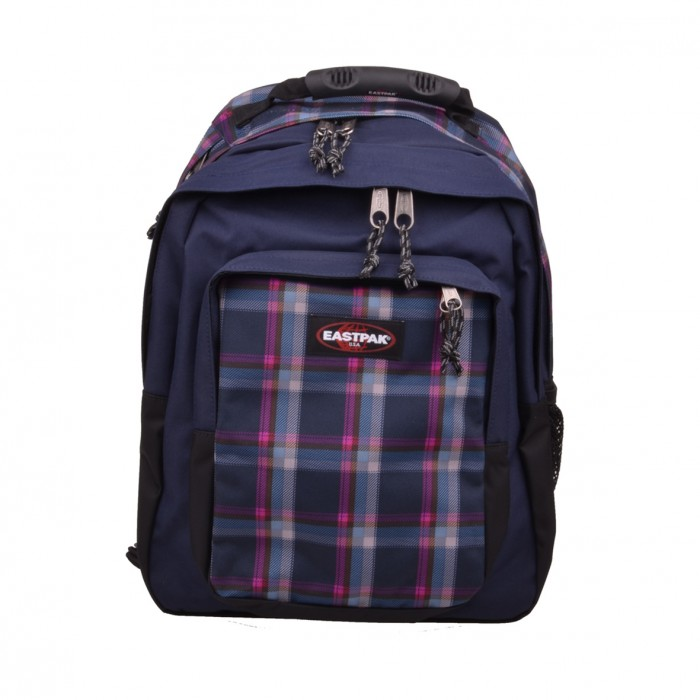 eastpak egghead checked pink 35l rucksack backpack blau. Black Bedroom Furniture Sets. Home Design Ideas